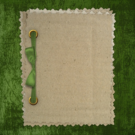 Grunge green background with ancient ornament Stock Photo - 12313295
