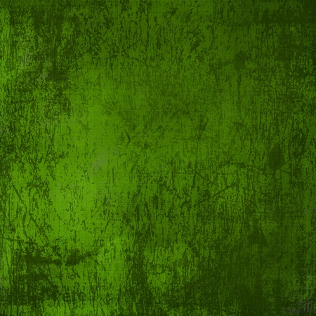 green and gold: Grunge green background with ancient ornament  Stock Photo