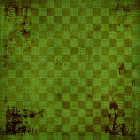 Grunge green background with ancient ornament  photo