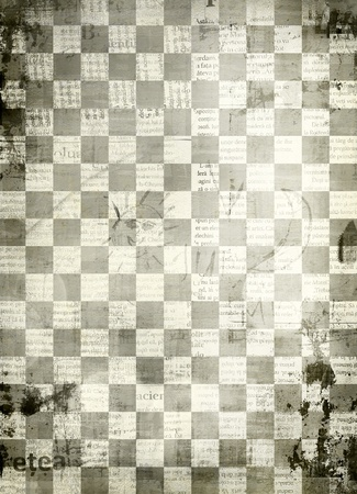 Abstract chess  background for design with grunge papers photo