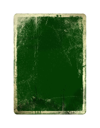 Grunge green card for st Patrick on the  white isolated background photo