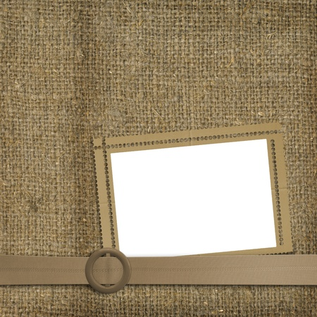 sackcloth: Glamorous belt with an old worn background of sackcloth