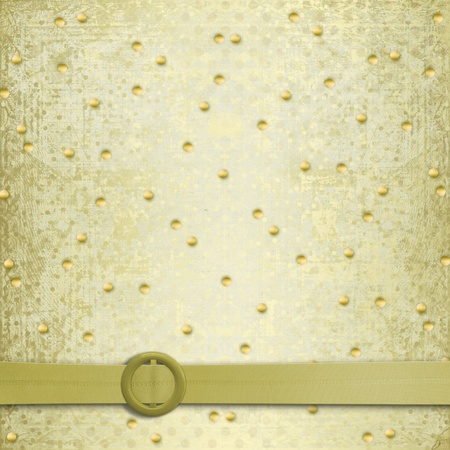 Abstract ancient background in scrapbooking style with gold ornament Stock Photo - 12313529