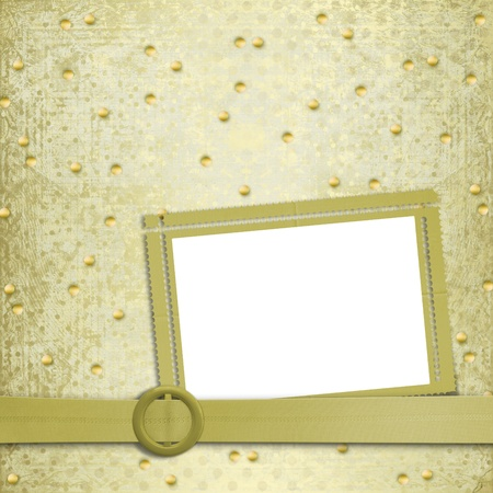 Abstract ancient background in scrapbooking style with gold ornament Stock Photo - 12313547