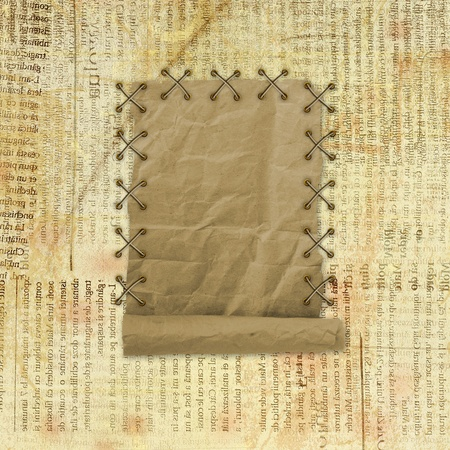 Grunge paper design in scrapbooking style on the abstract background  photo