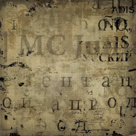 Grunge abstract background with old torn posters Foto de archivo