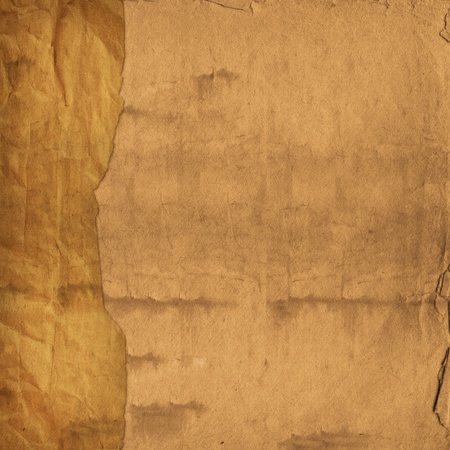 Alienated used paper background  with gold ornamental for announcement Stock Photo - 12313882