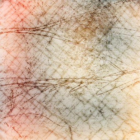 Abstract ancient background in scrapbooking style with scratch ornamental photo