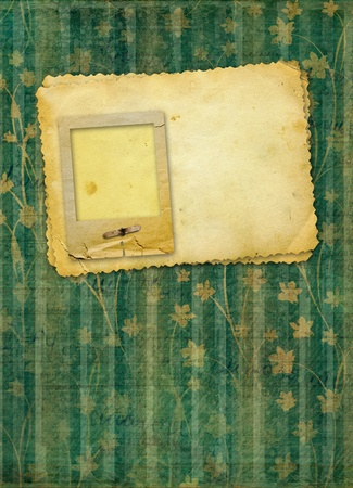 Grunge papers design in scrapbooking style with blank for text  photo
