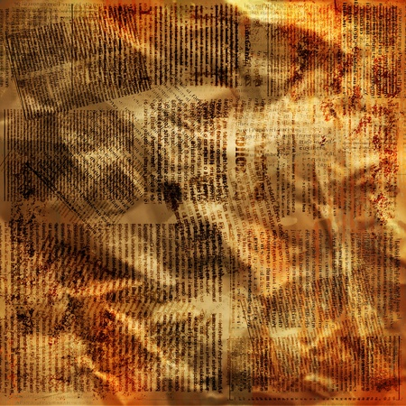 Old newspaper: Grunge abstract background with old torn posters