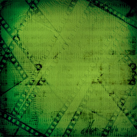 Grunge green background with ancient digital ornament for st Patrick Stock Photo - 12664936