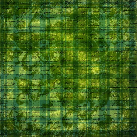 Grunge green background with ancient ornament for st Patrick photo