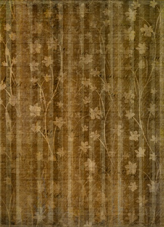 Abstract gold floral background for cover or album  photo