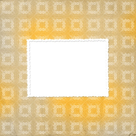 ornamente: Yellow ornamental background for backdrop or design