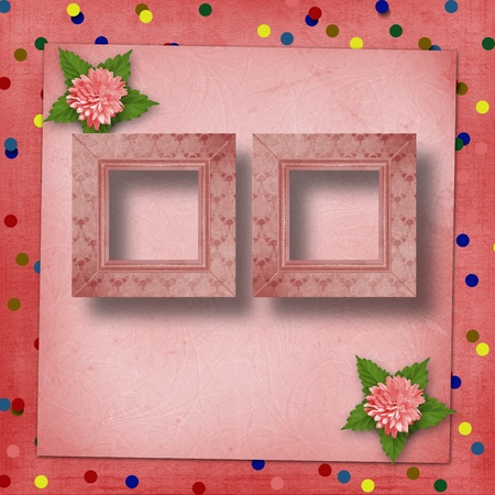 Abstract background with asters for holiday invitations or greetings photo