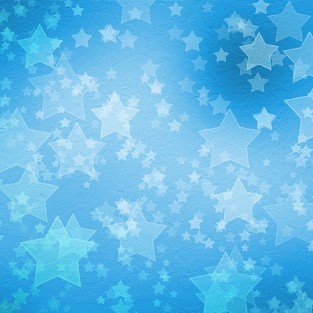 Blue backdrop for greetings or invitations with stars photo