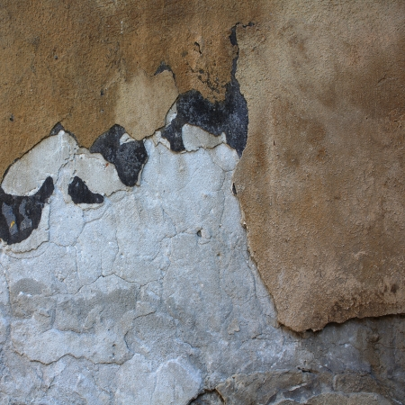 Collapsing cement wall. The background for illustrations illustration