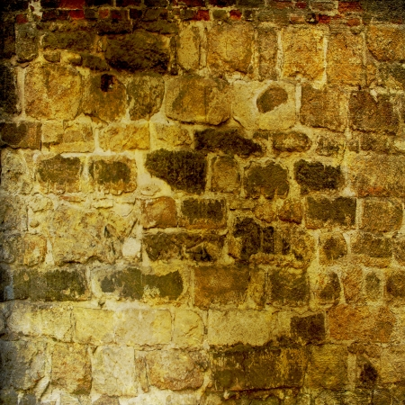 The background of the old masonry with traces of the former might Stock Photo - 13819681