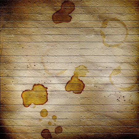 lacerated: Concept abstract background with dirty coffee stains