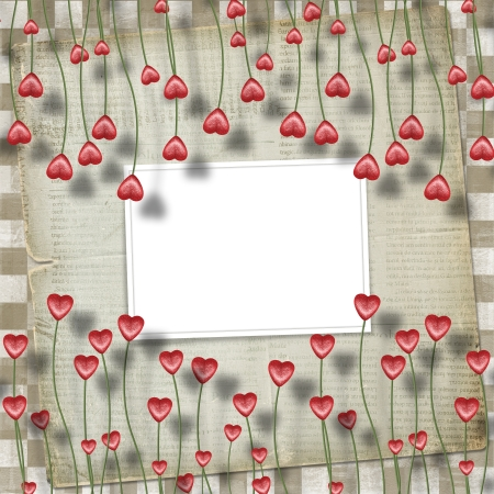 Greeting Card to St. Valentines Day with hearts  photo