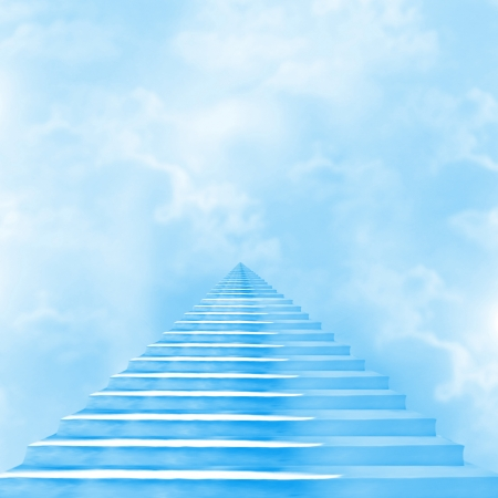 The stairway to heaven leading to God photo