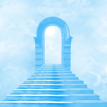 The stairway to heaven leading to God Banque d'images