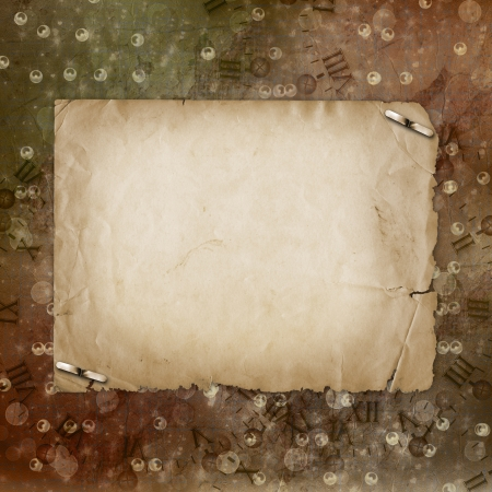 Grunge alienated paper design in scrapbooking style on the abstract background Stock Photo - 16025250