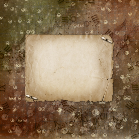 Grunge alienated paper design in scrapbooking style on the abstract background Stock Photo - 16270398
