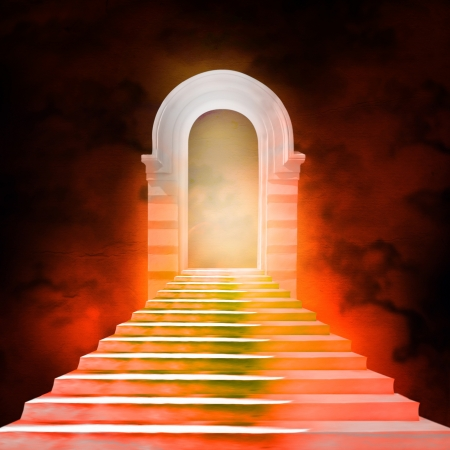 doom: Staircase leading to heaven or hell. Light at the End of the Tunnel