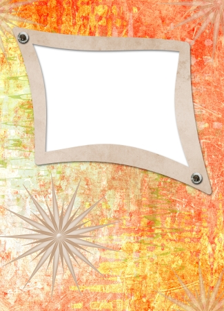 Grunge alienated paper design in scrapbooking style on the abstract background Stock Photo - 16409873