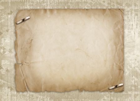 Grunge alienated paper design in scrapbooking style on the abstract background Stock Photo - 16409869