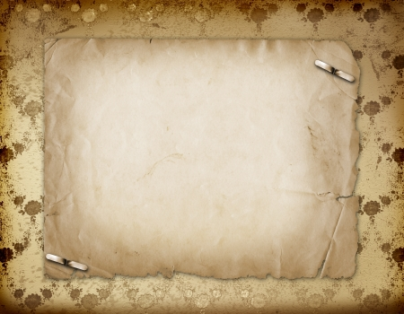 photo album: Grunge gold background with ancient floral ornament  Stock Photo