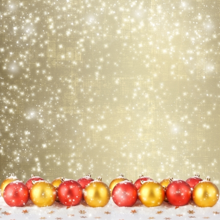 Christmas ball with greeting card on the abstract sparkling background Stock Photo - 16662977