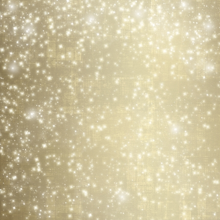 Abstract snowy background with snowflakes, stars and fun confetti photo