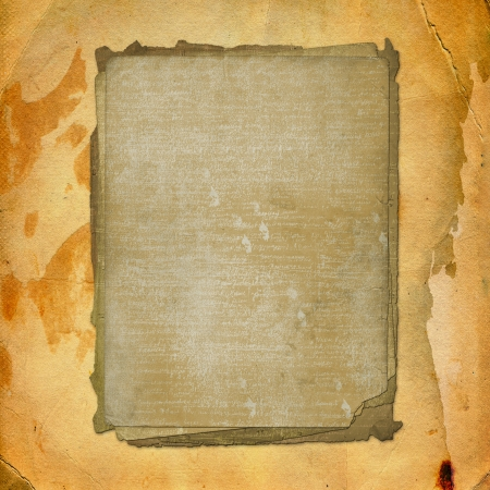Grunge alienated paper design in scrapbooking style on the abstract background Stock Photo - 16787945