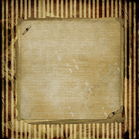 Grunge alienated paper design in scrapbooking style on the abstract background Stock Photo - 16787950