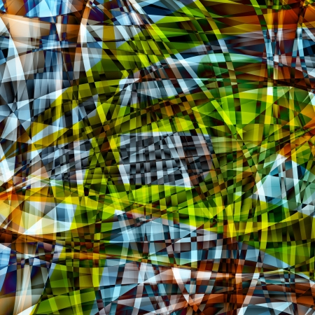 Abstract chaotic pattern with colorful translucent curved lines Stock Photo - 16881486
