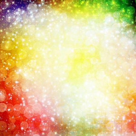 marco cumplea�os: Fondo abstracto multicolor con desenfoque bokeh para el dise�o Foto de archivo