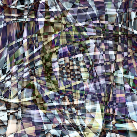 Abstract chaotic pattern with colorful translucent curved lines Stock Photo - 17098675