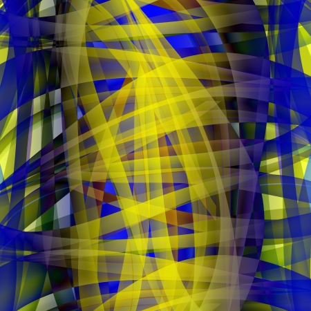 Abstract chaotic pattern with colorful translucent curved lines Stock Photo - 17462435