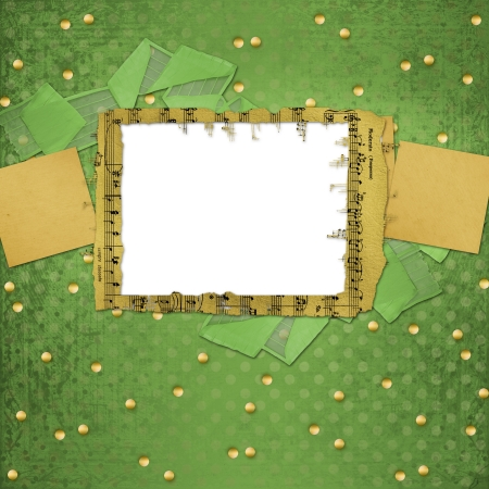 Grunge papers design in scrapbooking style with frame Stock Photo - 17462444