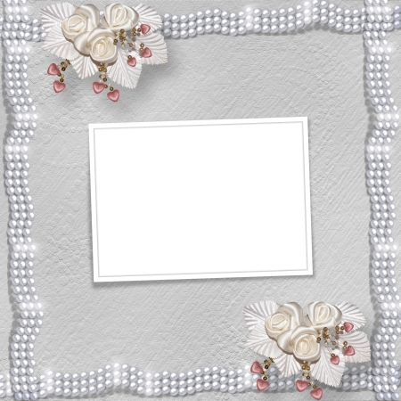 february 14th: Card for anniversary or congratulation to St. Valentines Day with hearts and buttonhole Stock Photo