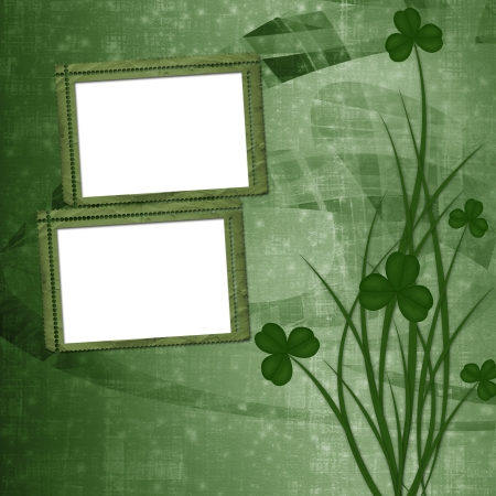Design for St. Patrick's Day. Flower ornament.  photo