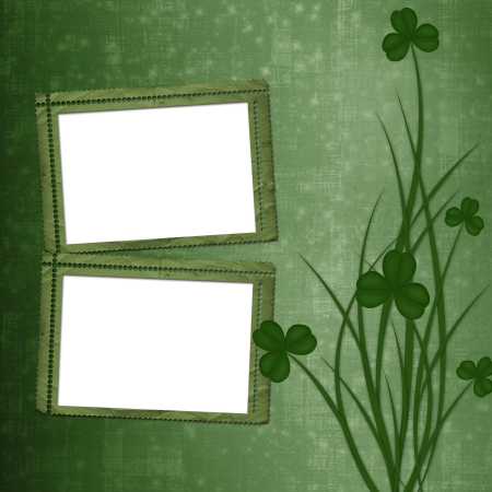 Design for St. Patrick's Day. Flower ornament.  Stock Photo - 17918567