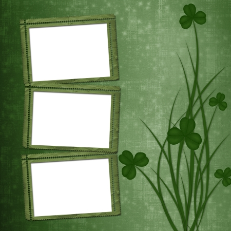 17th march: Design for St. Patricks Day. Flower ornament.  Stock Photo