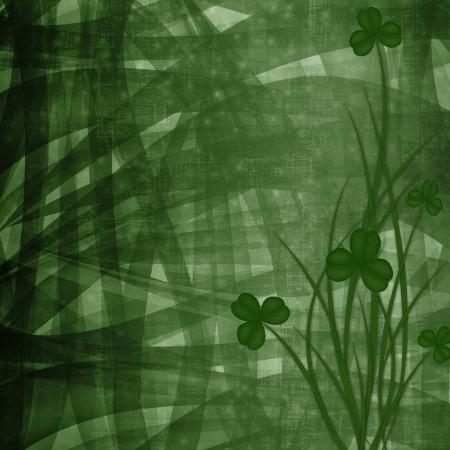 Design for St. Patrick's Day. Flower ornament. Stock Photo - 18390210