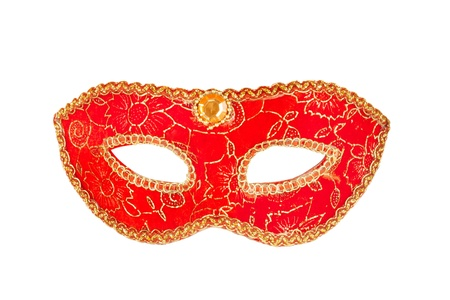 venician: Masquerade party masks isolated on white background  Stock Photo