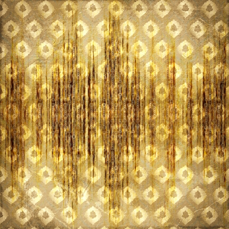 Grunge gold background with ancient abstract ornament Stock Photo - 22273313