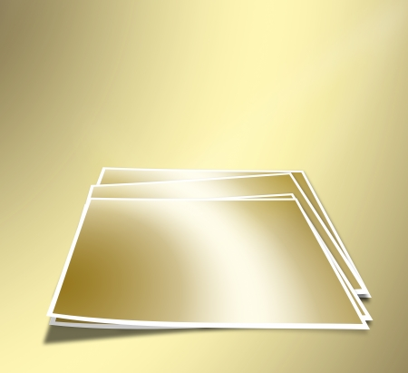 A set of sheets for photos on the gold abstract  photo