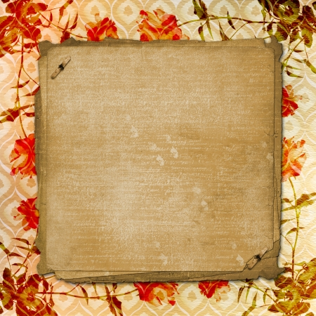 alienated: Alienated gold paper background for announcement with rose